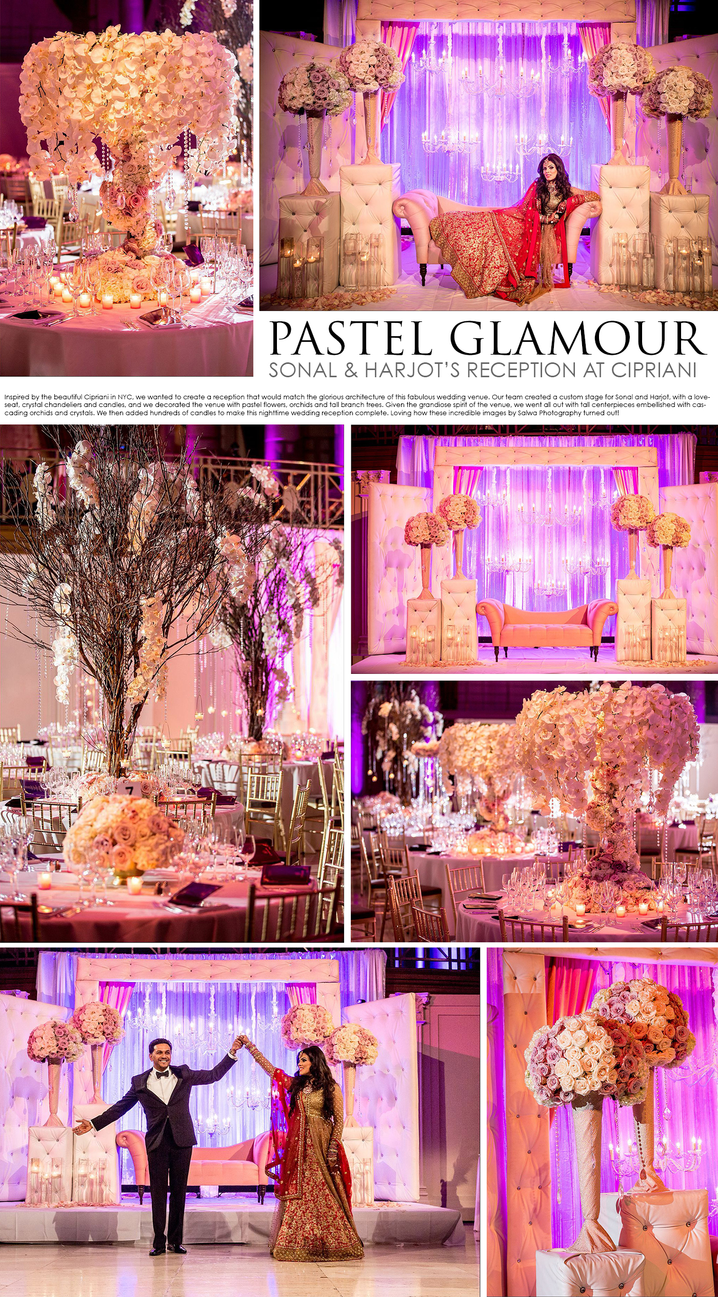 Living Room Design House Decor glamorous pastel reception at cipriani design house decor glamour wedding by decor