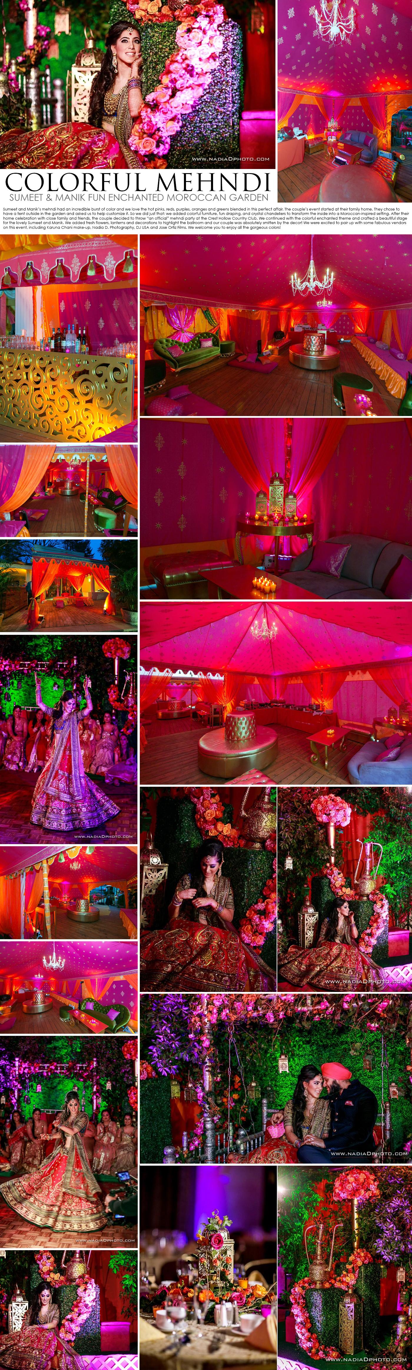 colorful mehndi decor