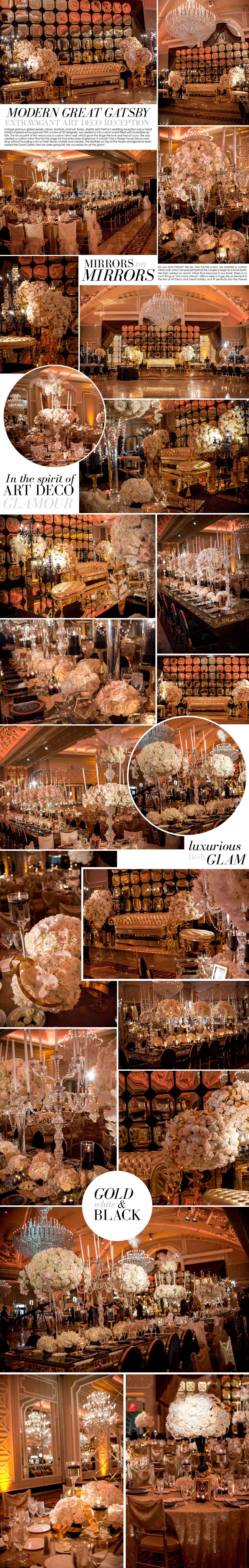 Great Gatsby glamorous wedding reception